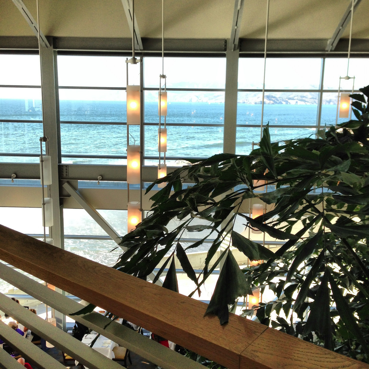Cliff House's upper level, a bar on the balcony